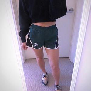 msu michigan state athletic shorts